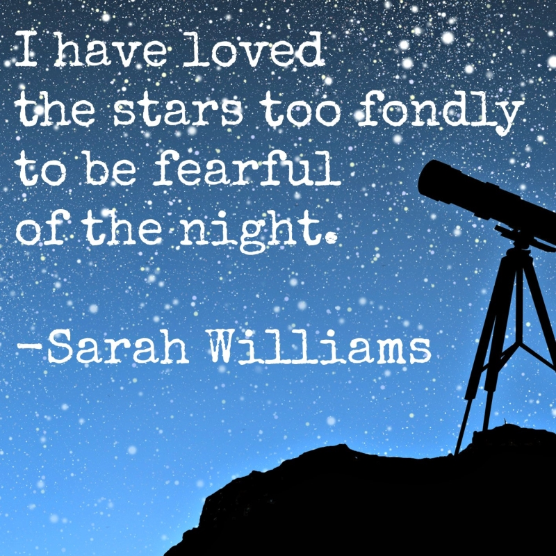 Stars  and Quote from Sarah Williams poem